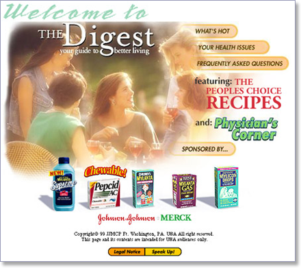 The Digest, Johnson & Johnson Merck home page