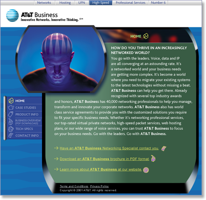 AT&T Business Landing Page